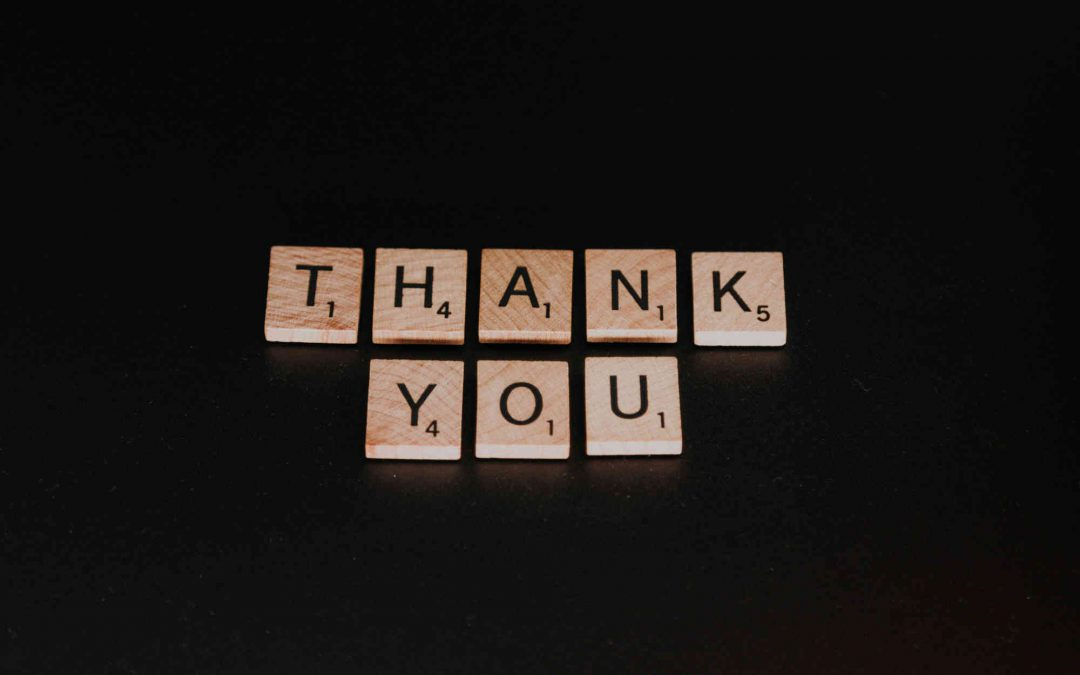 Image of Thank You spelled out