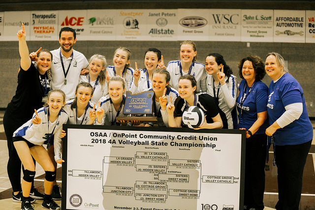 Valley Catholic claims school's first volleyball title