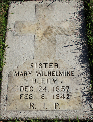 Mother Wilhelmine tombstone
